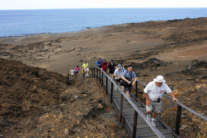 Our group hikes up Bartolome (Galapagos - Bartolome)
