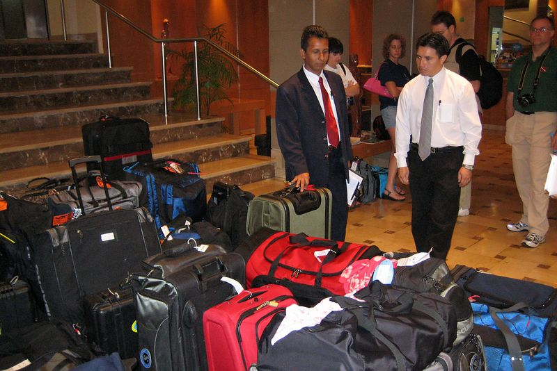 Our group had a LOT of luggage (Galapagos - Guayaquil)