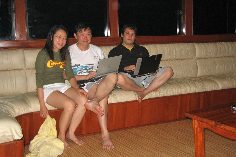 Lena, Paul, and Alexis.  We're always on our computers. (Galapagos - Deep Blue)