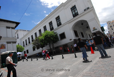Looking back at President Correa's house