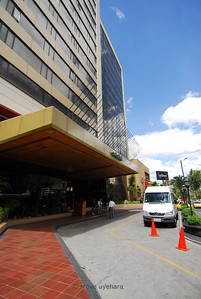 The Swissotel Quito front entrance