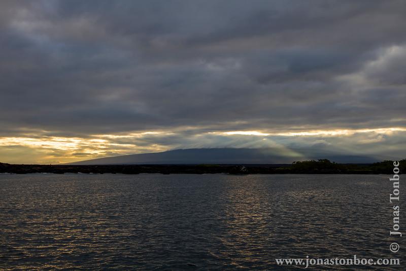 Sunrise over Isabela Island