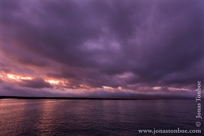 San Cristobal island. Cerro Brujo: Sunrise