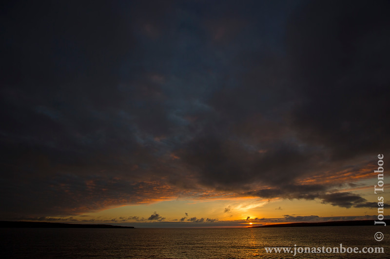 Sunset over Darwin Bay