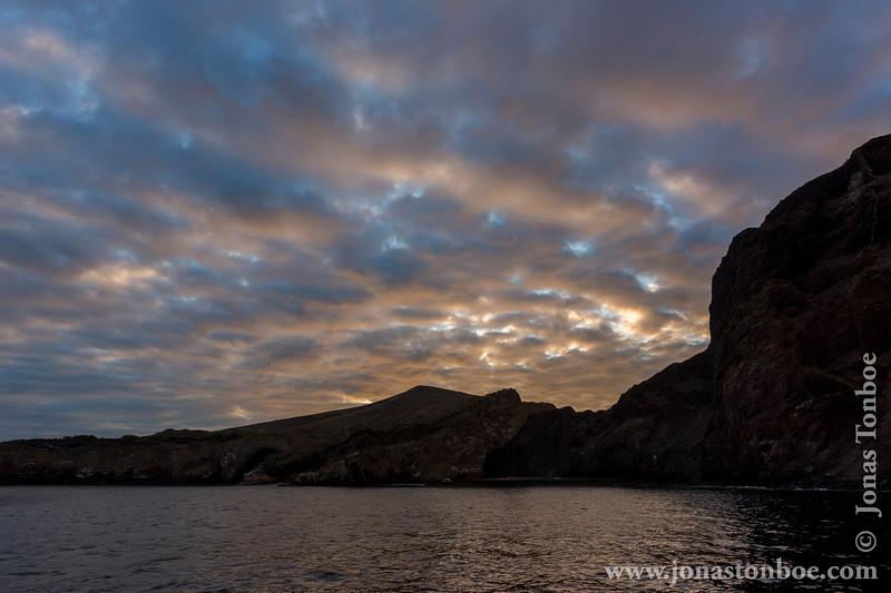 Sunset over Vicente Poca Point