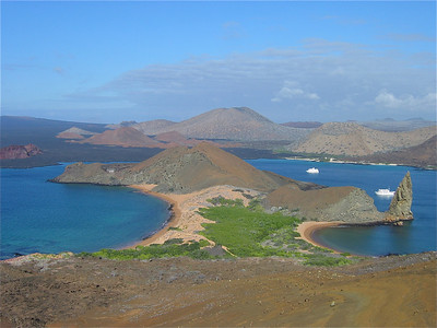 Vulkanisch landschap bij Bartolome, Galapagos Eilanden.