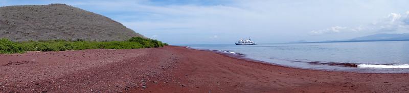 Rabida Island & its red sand beach