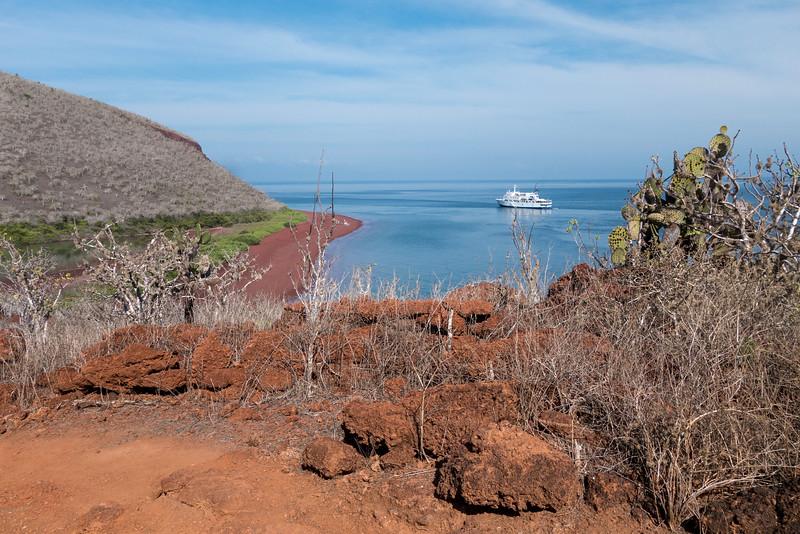 The landing cove of Rabida Island