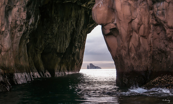 "Kicker Rock through ""aperture""."