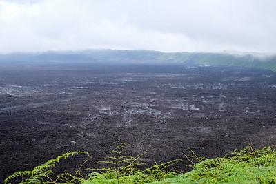 Caldera of the Sierra Negra volcano.