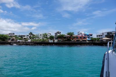 Arriving at the Isla San Cristobal.