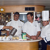 Our crew prepares a bon voyage cocktail.