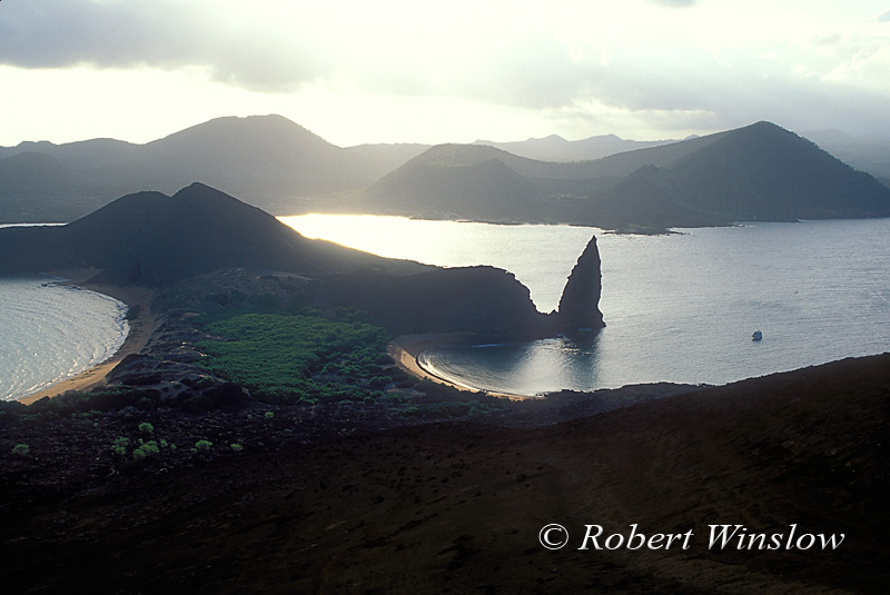 Pinnacle Rock, Bartolome Island, Galapagos Islands, Ecuador, South American, Pacific Ocean