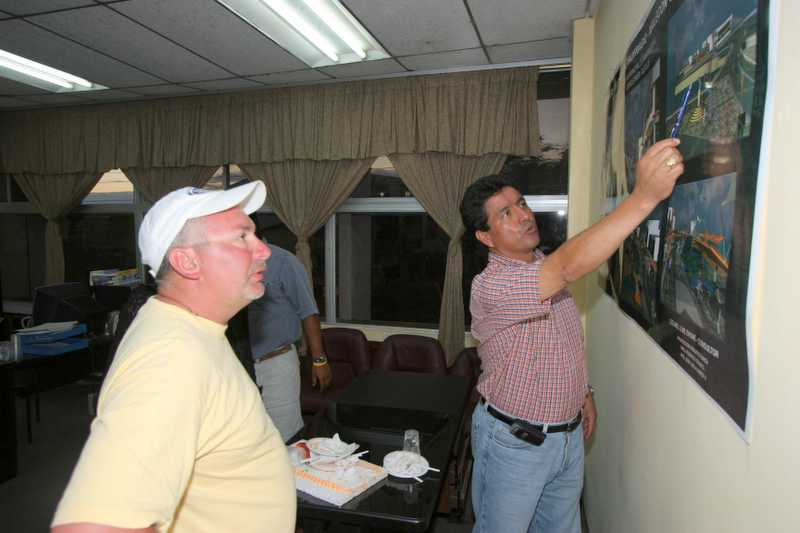 Friday, January 06, 2006<br /> <br /> Pedro Zapata is the mayor of San Cristobal and was excited to share with us his vision of the new water front project of Puerto Baqueziro Moreno. He is also instrumental in the promotion of the Marlin fishery of San Cristoble. Not only can you come here to see great wildlife and meet friendly people, but you can fish what may be the best Marlin fishing on the planet.
