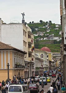 A street in Quito, Ecuador
