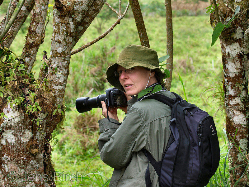 Karina photographing giant tortoise.