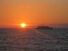 Yatch at sunset