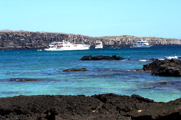 Yachts at anchor in Darwin's Bay