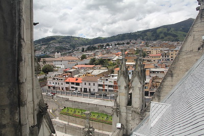 view of Quito from the Basilica tower