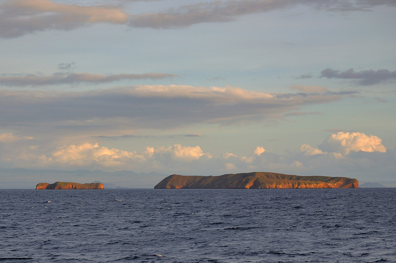 A pair of small islands enroute to Isla San Christobal.