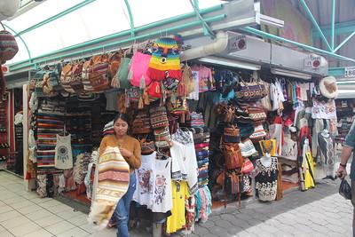 an outdoor market in Quito, Equador