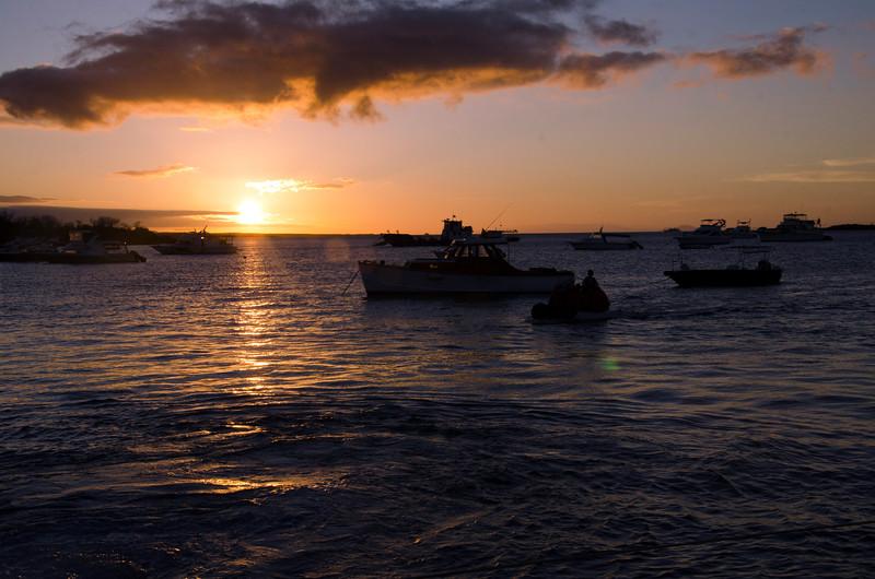 Sunset at Baltra