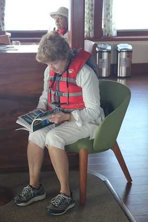 My sister, Mary Anne Flinn, awaiting her call to a panga