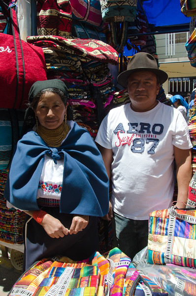 Otavalo venders. We bought four bags from them.