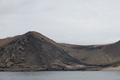 another view of a volcanic island (which all of the Galapagos Islands are)