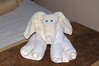 After each morning outing we were greeted with a new form of towel sculpture.   Each dinner also included a food sculpture.