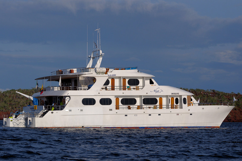 Our home  for the week, the Nina,  room for 16 passengers and each cabin with its own balcony.