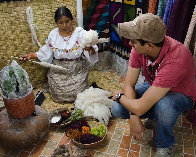 Weaver and Marcelo, Otavalo, Ecuador