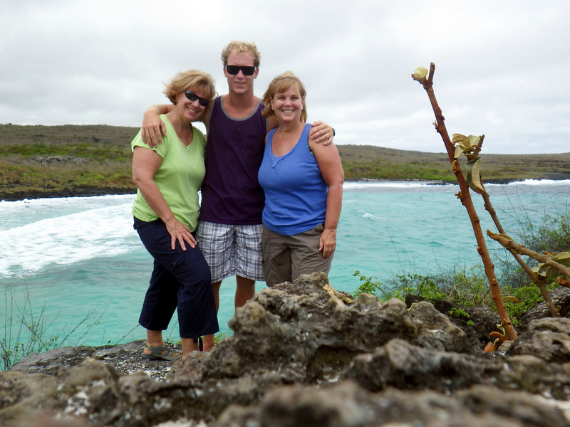 Sue, David, Kathy at Puerto Chino