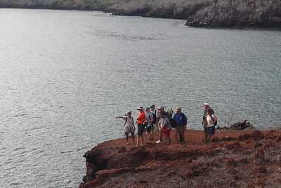 Rabida Island - high concentrations of iron in the lava produce the distinctive red color