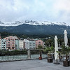 A view of the snow capped mountains in Innsbruck Austria