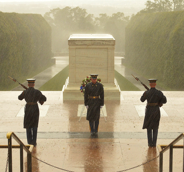 Tomb Guards in the Rain, taken in September, 2012.