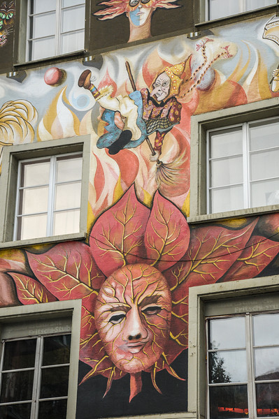 Building dedicated to a version of Mardi Gras. They throw oranges during a parade.