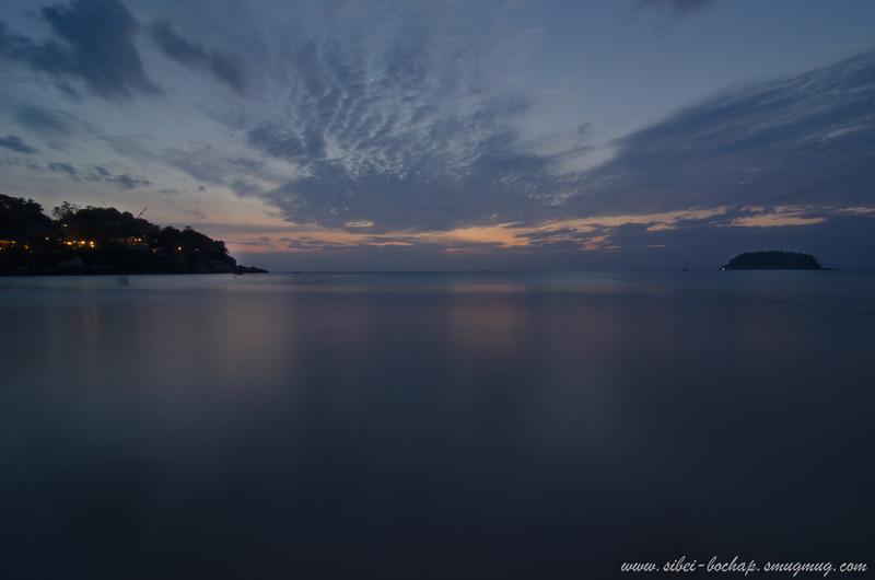 sunset scene at kata beach 1/4