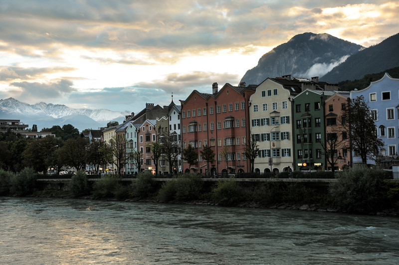 Another view of Innsbruck at sunset.