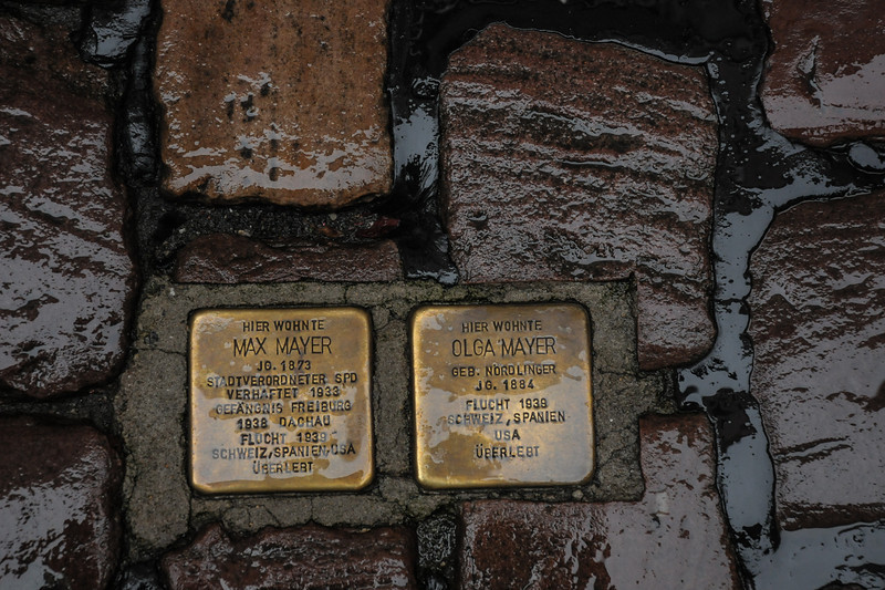 Prisoners from WWII were memorialized in the streets of Baden Baden