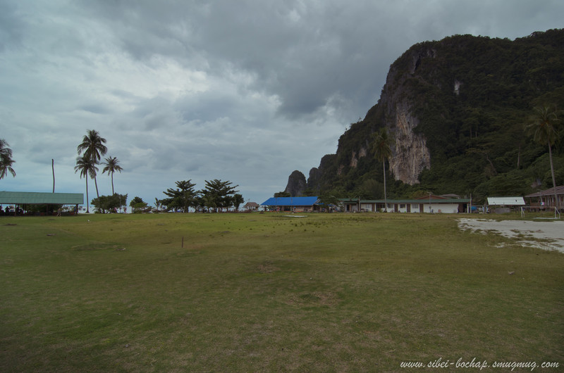 rustic kampong-ish village by the sea