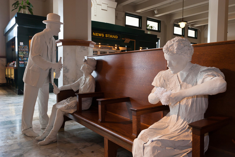 Statues in the train station.