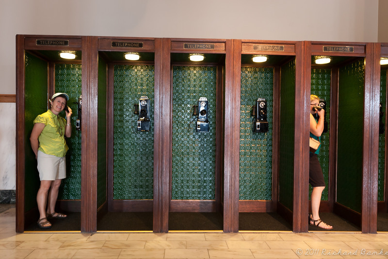 Old phone booths.