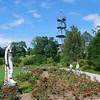 Rose garden and climbing tower in Killesberg Park - Stuttgart.<br /> <br /> (picture taken July 12, 2009)