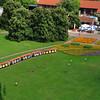 Children chasing train in Killesberg Park, Stuttgart.<br /> <br /> (picture taken July 12, 2009)