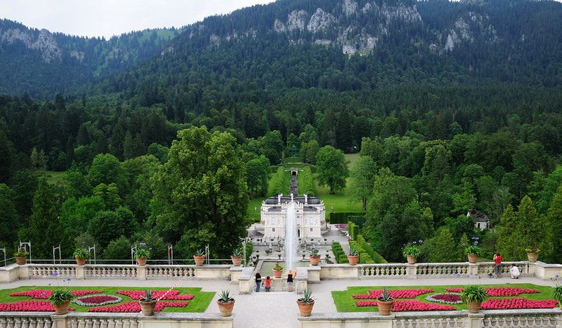 View of Linderhof from above.<br /> <br /> picture taken July 14, 2009
