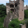 Ruined powder turret, Heidelberg Castle. It was destroyed by an explosion.<br /> <br /> (picture taken July 11, 2009)