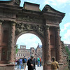 """""""The Elizabethentor"""" at Heidelberg Castle.  This arched garden entryway was erected overnight as a surprise by elector Freidrich V for the 19th birthday of his Scottish bride, Elizabeth Stuart.  Built in 1612.<br /> (picture taken July 11, 2009)"""