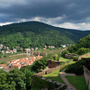 View from castle across Neckar River to Neuenheim and Schlangenweg.<br /> <br /> (picture taken July 11, 2009)