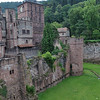 Heidelberg Castle and moat. It never actually held water as the stone was too porous.<br /> <br /> (picture taken July 11, 2009)